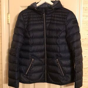 Esprit packable down jacket. Navy. Sz 12